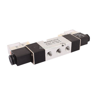 H● 4M320-08 AC110V 2 Position 5 Way RC1/4 Neutral Air Selector Solenoid Valve. 3