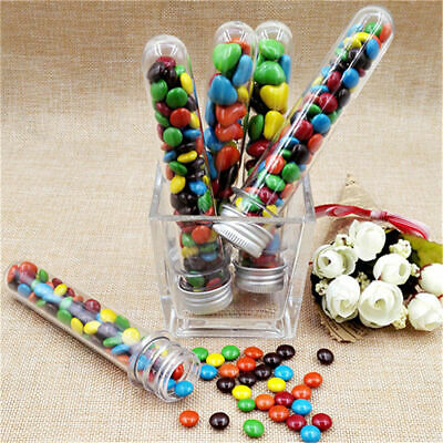 20pcs 40ml Plastic Test Tubes with Screw Caps Candy Box Containers for Bath Salt 5