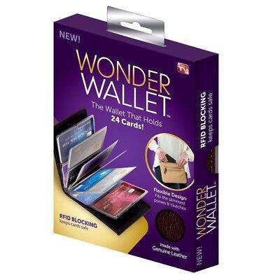 Wallet Leather Slim Black Amazing Original Wonder Wallet As Seen On TV 8