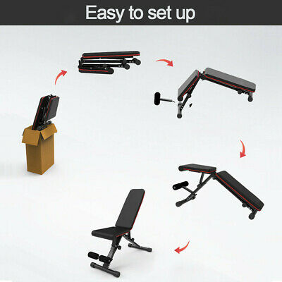 EasyBuild Adjustable Folding Olympic Weight Bench - Upright to Decline Black 7