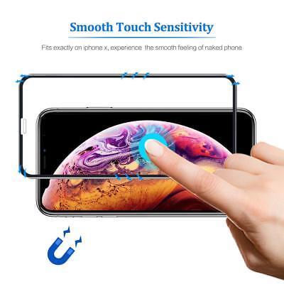 9D Vitre Verre Trempé Film protection d'écran iPhone XR X XS MAX 6 7 8 LOT x2 4