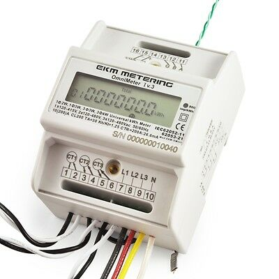 120//240V 120 Apartment Submeter #24 Digital Electric kWh Meter Up to 480V