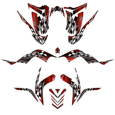 Yamaha Raptor 700 graphics 2006-12 full coverage decal kit NO2500 red