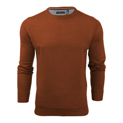 Mens Light Knitted Crew Neck Jumper Sweater Jersey Long Sleeve Brave Soul Parsec 10