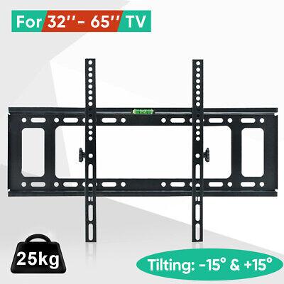 Tilt TV Wall Bracket Mount Flat LED LCD 32 37 42 46 50 52 55 60 65 inch LG Sony 8
