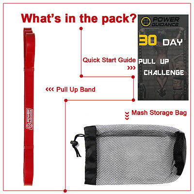 POWER GUIDANCE Pull Up Exercise Bands For Resistance Body Stretching, Fitness 10