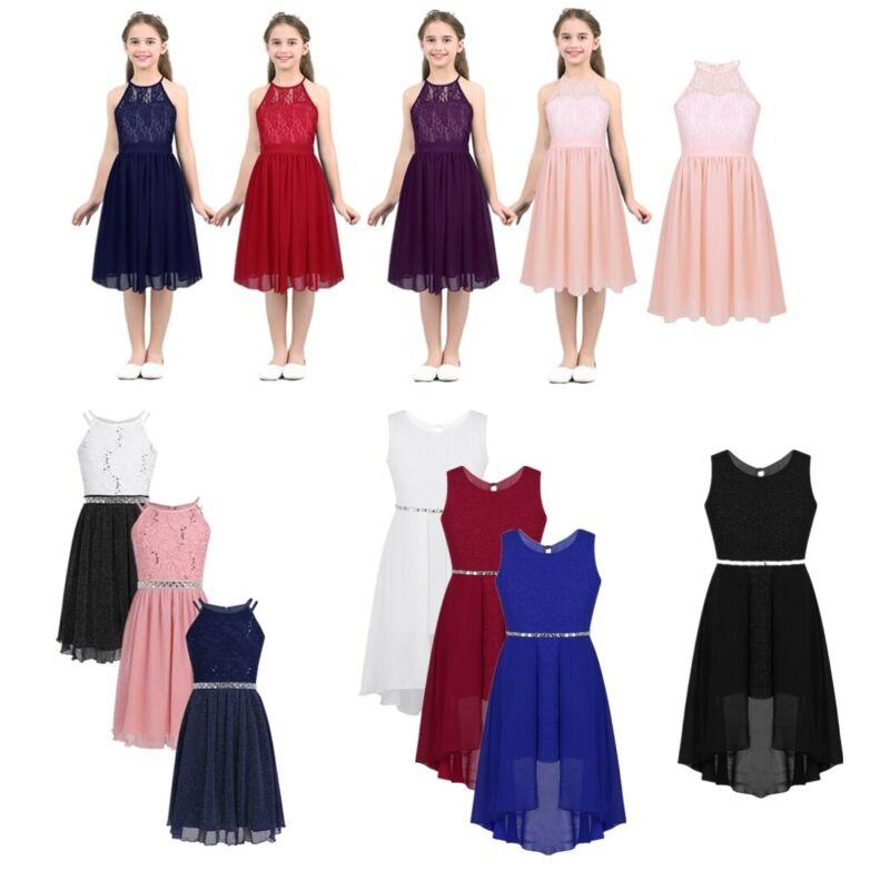 Kids Princess Dress Flower Girls Dress Birthday Party Weddding Bridesmaid Gowns 3