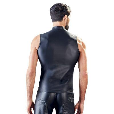 """Sexy Herren Shirt M L XL Stehkragen Zip Edel Eng matter Wetlook Ärmellos """"Faris"""" 6"""