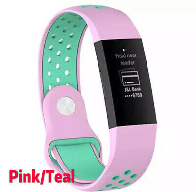 For Fitbit Charge 3 Replacement Silicone Wristband Watch Sports Band Strap NEW 7