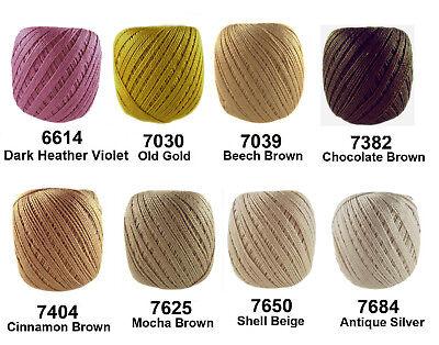 Circulo CLEA125 Crochet Soft Cotton Yarn Knitting Thread Solid #10 125m