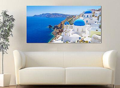 Quadro Moderno Arredamento Santorini Isola Greca Arredo Casa Arte Stampa su Tela 2