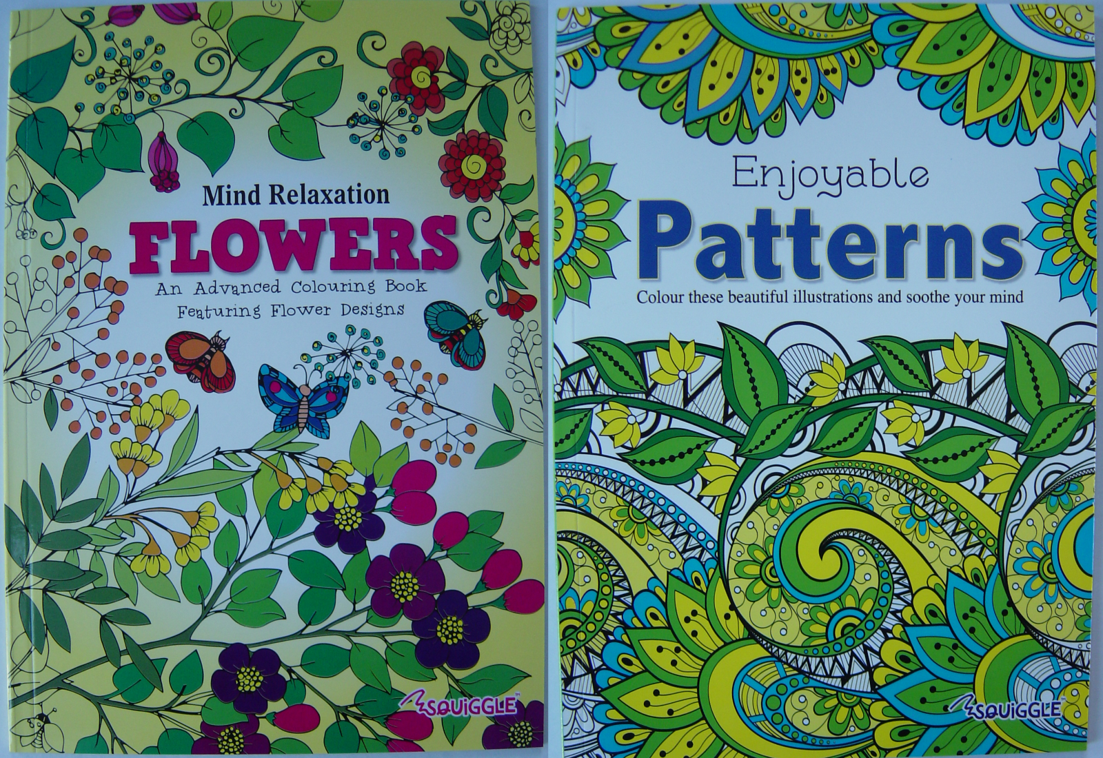 Adult Colouring Book Mind Relaxing stress relief therapy good quality, 14 books 5