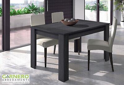 TAVOLO ALLUNGABILE TITO 6 posti 140 grigio legno cucina sala ...