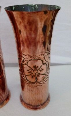 Arts & Crafts pair of Copper vases - believed to be Keswick KSIA 3