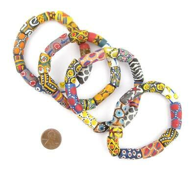 Fancy African Designer Bracelet Ghana Large Hole Handmade 2
