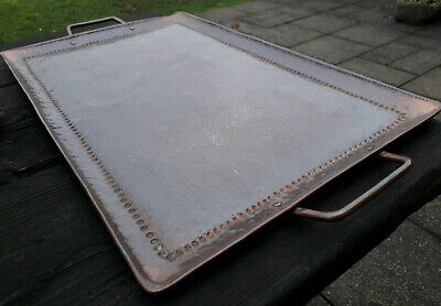 Antique Arts & Crafts Copper Tray Hammered Finish - Newlyn ? John Pearson ? 6