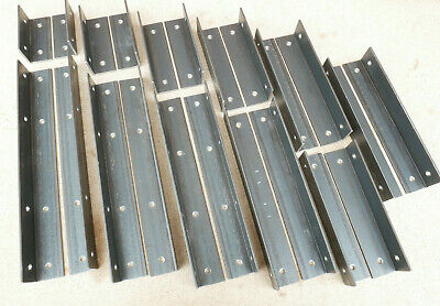 Alcove Shelf Brackets (pair) Shelves Corner Angle Steel Scaffold Timber Board 3