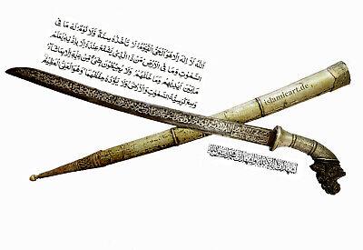 Antique islamic Filipino Visayan Philippines Tenegre Sword Dagger Knife 18/19th 3