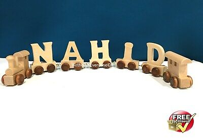 Personalized Letter Name wooden Train Birthday New Year Christmas Gift Toy 5