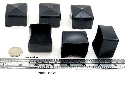 "Plastic tips 12 Push-On Pliable Vinyl Caps End Caps 1 1//2/"" Diam x 1/"" Height"