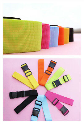 Colorful Adjustable Luggage Baggage Straps Tie Down Belt Travel Buckle Lock 2