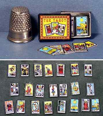 DOLLHOUSE MINIATURE 1:12 scale Tarot Cards Boxed Set dollhouse gypsy game