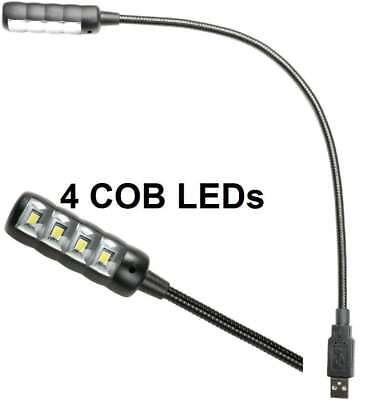 Trafo /& Sockel Leselampe Flexilight ADAM HALL Ultrahelle LED Schwanenhalslampe