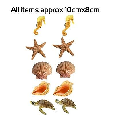 BATHROOM KICTHEN TILE STICKERS SEA MARINE LIFE SHELL STICKERS 10 IN A PACK ACE