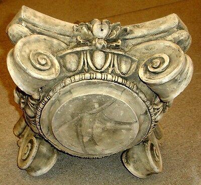 "14"" Greek Roman Ionic Capital Scamozzi Ionian Riser Column 4"
