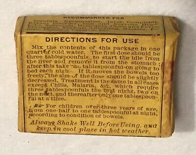Antique Nature's Cure Blood Purifier Apothecary Pharmacy Box National Drug Co. 8