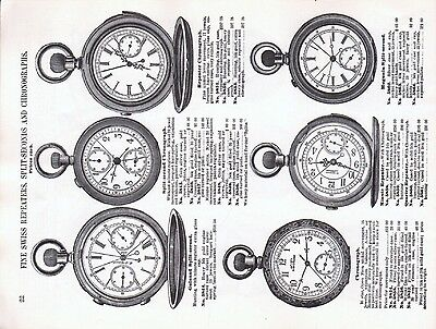 S. F. Myers & Co., 1885 Catalog Reprint -  - Pages of American Watch Movements 5