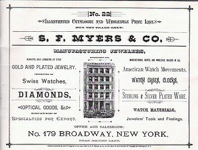 S. F. Myers & Co., 1885 Catalog Reprint -  - Pages of American Watch Movements 2