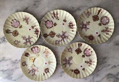 Rare Antique Chinese Export Thin Porcelain Hand Painted Tea Cups & Saucers 3