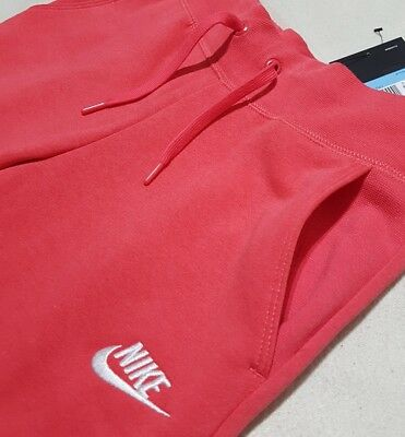 Nike Girl's Nsw Fleece Pants Tracksuit Bottoms Deep Coral 806326 645 -M / L / Xl 3