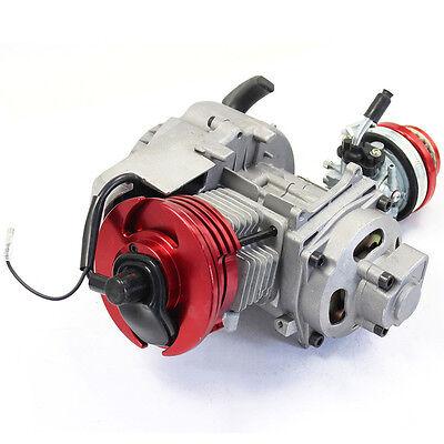 RED HIGH PERFORMANCE 2 stroke 49cc ENGINE MOTOR PULL START POCKET BIKE  SCOOTER