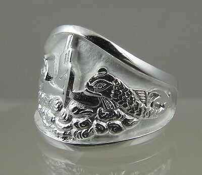 Submarine Dolphin   925 STERLING SILVER RING