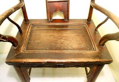 Antique Chinese High Back Arm Chair (2807), Circa 1800-1849 6