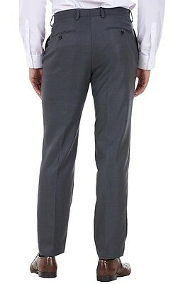 Men's Flat Front Smart Formal Pants Office Supercrease Tailored Fit Trousers 4