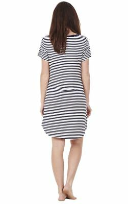 Ladies Printed Stretch Nightdress Womens Short Sleeve Cami Nightie