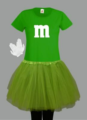 M&M Kostüm MM Fans Tüllrock Damen T-Shirt Tutu Tütü Fasching Gruppenkostüm 10
