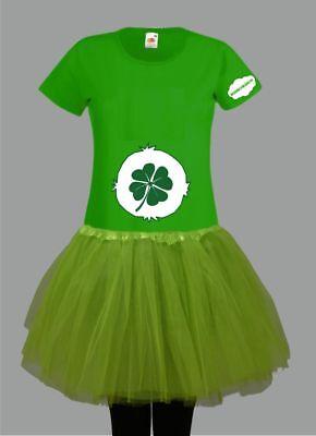 Kostüm für Glücksbärchi Fans Damen T-Shirt Tütü/Rock Gruppenkostüm Karneval JGA 5