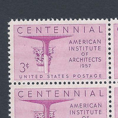 American Institute of Architects Centennial Mint Set of 4 Stamps 59 Years Old! 2