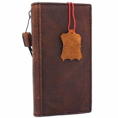 genuine real vintage leather case for Google Pixel 2 book wallet cover holder ID 2