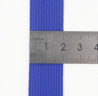 Solid Colour Flat Knit Elastic 20mm width Soft Rubber Knitted 3