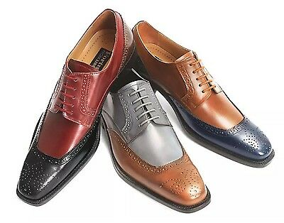 Men/'s Liberty Dress Shoes Classic All Leather Two Tone L 994