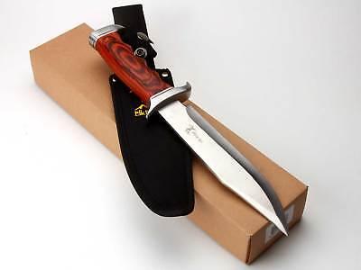 Elk Ridge Knife Hunting Fixed Blade Full Tang Wood ER-012 Mason Masonic Logo 3