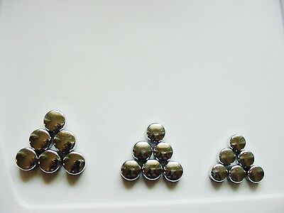 GMC Chrome Motor Engine Bolts Caps Covers Dress-up Kit set 18 3 sizes NOS Safari