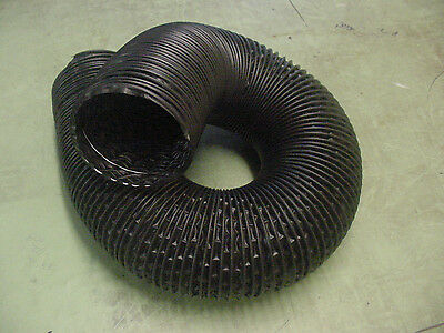 """Pontiac 4/"""" Black Flexible Air Cleaner Intake Tube Hose Defroster SOLD BY FT Nos"""
