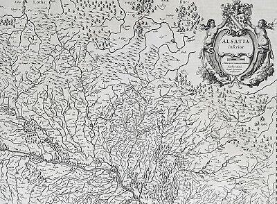 1638 Gerard Mercator & Henricus Hondius Antique Map of Alsace Region, France 2
