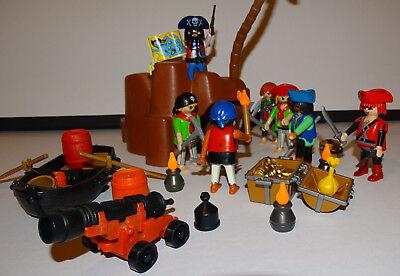 Playmobil Rocher aux Tresor des Pirates Gris Foncé 12 x 10 cm NEW